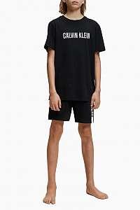 Calvin Klein čierne chlapčenské tričko Tee