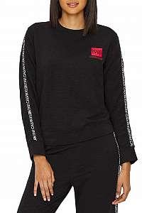 Calvin Klein čierne dámska mikina l/s sweatshirt s logem 1981 - XL