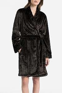 Calvin Klein čierny dámsky župan Robe - M-L