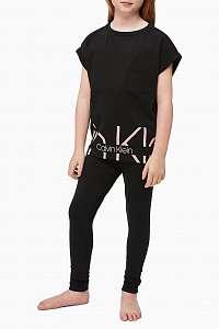 Calvin Klein čierne dievčenské tričko Slouchy Top