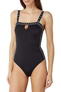 Calvin Klein čierne jednodielne plavky Bandeau One Piece