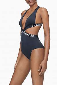 Calvin Klein čierne jednodielne plavky Plunge One Piece