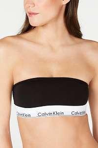 Calvin Klein čierne podprsenka Bandeau bez ramienok  - M