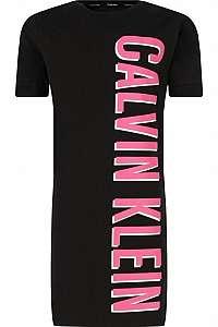 Calvin Klein čierne šaty Shirtdress - 14-16