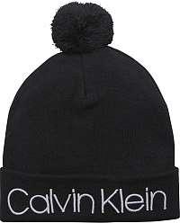 Calvin Klein čierne unisex čiapka Pop Pom Beanie Black s brmbolcom