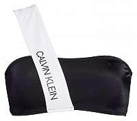 Calvin Klein čierno-biely horný diel plaviek Bandeau RP