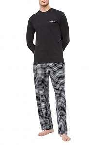 Calvin Klein čierno-sivé pánske pyžamo L/S Pant Set