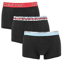 Calvin Klein čierny 3 pack pánskych boxeriek Cotton Stretch - XL