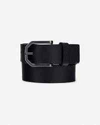 Calvin Klein čierny pánsky kožený opasok Eessential Plus Faceted