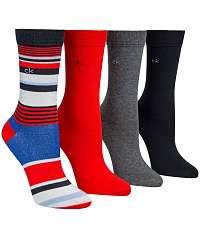 Calvin Klein farebný 4 pack ponožiek 4pr Holiday Sparkle Stripe