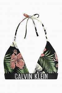 Calvin Klein farebný horný diel plaviek Fixed Triangle - RP s tropickými motívmi