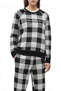 Calvin Klein kockovaná dámska mikina L/S Sweatshirt