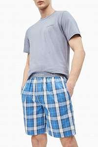 Calvin Klein modré pánske pyžamo S/S Short Set - M