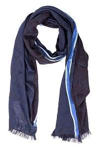 Calvin Klein modré šatka Woven Runner Logo Scarf Navy