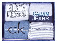 Calvin Klein modrý 4 pack ponožiek 4pr Gift Jeans Logo