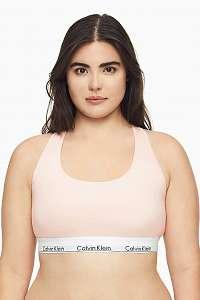 Calvin Klein púdrová športová podprsenka Unlined Bralette Plus Size so širokou gumou