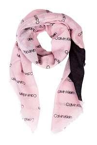 Calvin Klein púdrové šatka Printed Logo Scarf Clear Pink