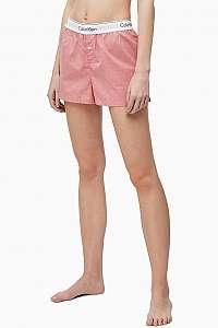 Calvin Klein ružové dámske domáci kraťasy Pomelo heather - XL