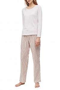 Calvin Klein ružové dámske pyžamo L/S Pant Set
