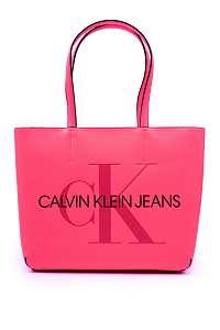 Calvin Klein ružové kabelka Shopper Fluo Pink