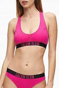 Calvin Klein ružový horný diel plaviek Zip Bralette-RP Pink Glo