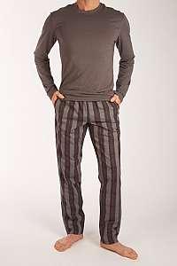 Calvin Klein sivé pánske pyžamo L/S Pant Set - S