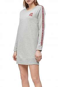 Calvin Klein sivé domáce šaty L/S nightshirt s logom 1981
