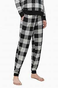 Calvin Klein sivé kockované dámske tepláky Jogger