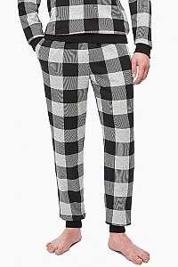Calvin Klein sivé kockované pánske tepláky Jogger
