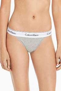 Calvin Klein sivé nohavičky High Leg Tanga - L