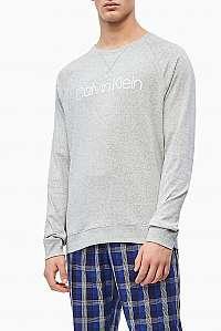 Calvin Klein sivé pánska mikina L/S Sweatshirt