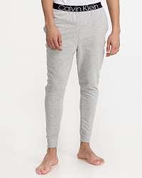 Calvin Klein sivé pánske pyžamové nohavice