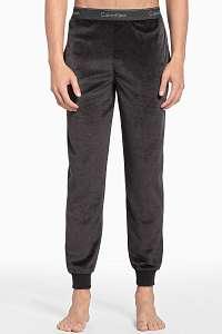 Calvin Klein sivé pánske tepláky z mikroplyšu Jogger - XL