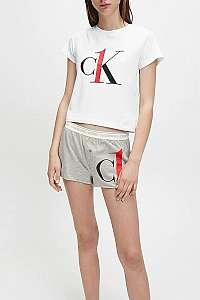Calvin Klein sivé pyžamo S/S Short set