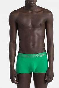 Calvin Klein zelené pánske boxerky Focused Fit Low Rise Trunk - XL