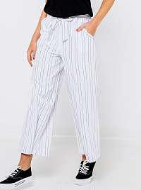 CAMAIEU biele široké pruhované nohavice