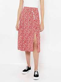 CAMAIEU červená kvetovaná sukňa