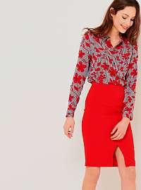 CAMAIEU červená puzdrová sukňa