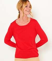 CAMAIEU červené basic ľahký sveter