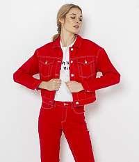 CAMAIEU červené džínsová bunda