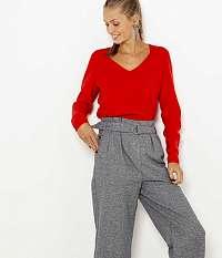 CAMAIEU červené kašmírový sveter