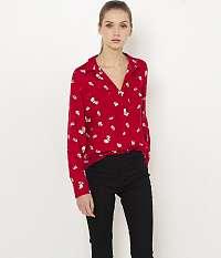 CAMAIEU červené vzorovaná košeľa