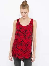 CAMAIEU červený top s kvetinovým motívom