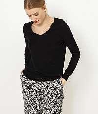 CAMAIEU čierne basic sveter