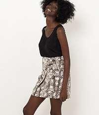 CAMAIEU hnedá sukňa s hadím vzorom
