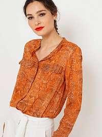 CAMAIEU oranžová blúzka so vzorom