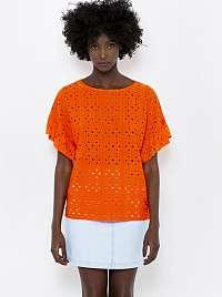 CAMAIEU oranžové blúzka s madeirou