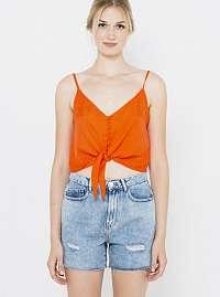CAMAIEU oranžové dámsky top