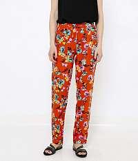 CAMAIEU oranžové kvetované nohavice