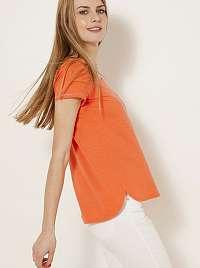 CAMAIEU oranžové tričko